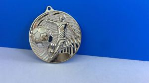 Engraving Shiny Gold Silver Brass Blank Insert Soccer Football Medal pictures & photos