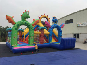 Inflatable Dragon Funcity, Dragon Inflatable Playground, Jumping Slide Amusement Park pictures & photos