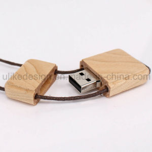Wooden Necklace USB Flash Drive (UL-W014) pictures & photos
