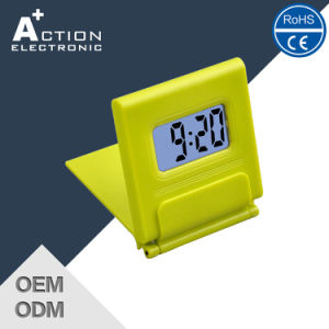 Mini Portable Table Travelling Clock with Calendar for Promotion pictures & photos