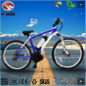 Electric Middle Motor Mountain Hydraulic Suspension Bike pictures & photos