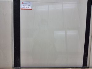 Soluble Salt Polished Porcelain Tile for Floor Middle White (AJC6203) pictures & photos