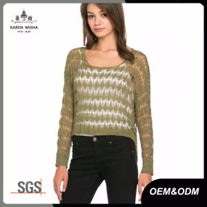 Ladies Summer Open Knit Sweater Top pictures & photos