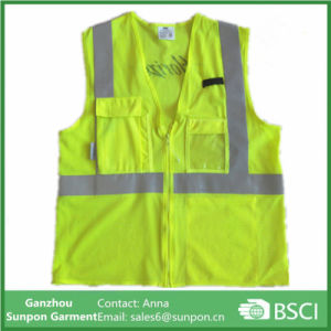 Functional Reflective Safety Vest Yellow 3m pictures & photos