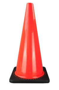 70cm Fluorescent Soft PVC Traffic Cone (S-1238W) pictures & photos