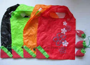 Promotional Polyester Folding Shopping Bag with Rose Design pictures & photos