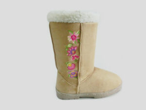 Lovely Warm Soft Outdoor Snow Boots with Embroidery pictures & photos