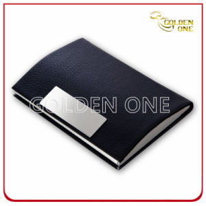 Fine Quality Business Gift PU Leather Name Card Case pictures & photos