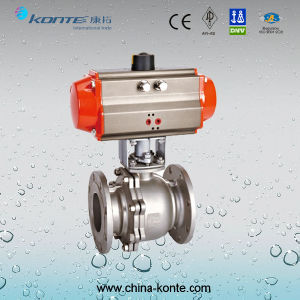 Q641f-16p/R 2PC Pneumatic Actuated Flanged Ball Valve pictures & photos