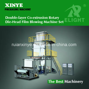 Double Screws Co-Extrusion Rotary Die-Head Film Blowing Machine Set pictures & photos