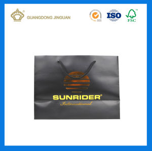 Customized Foldable Shopping Paper Bag for Clothing (Brown Matt Finishing) pictures & photos