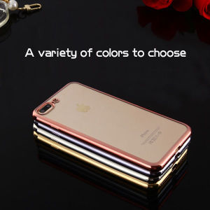 Hot Sale Brand Electroplate TPU Soft Phone Case for iPhone7/7 Plus pictures & photos