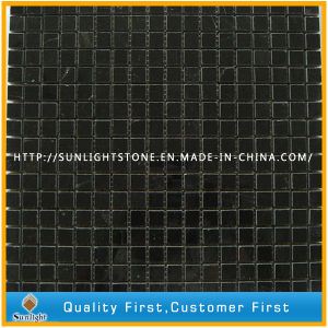 Natural Black Marble Stone Mosaic for Hotel Floor and Wall pictures & photos