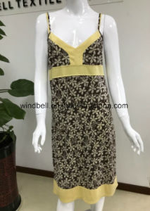 Womens Slip Dress with Burn out pictures & photos