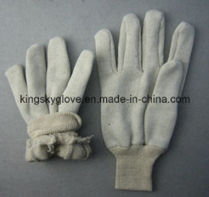 Jersey Liner Cotton Working Glove with Knit Wrist (2119) pictures & photos