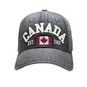 Custom Embroidery Cap Burshed Cotton Promotional Sports Embroidery Denim Cap pictures & photos