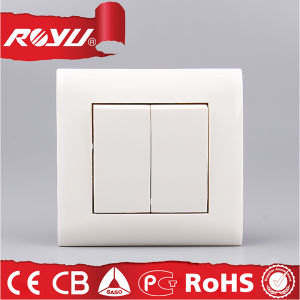 Power 2 Gang 3 Way Different Types Electrical Wall Switch pictures & photos