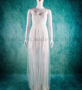 Custom Sexy Bridal Lace Wedding Gown Dress with Shoulder Strap pictures & photos