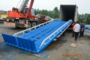 Container Loading Unloading Manual Mobile Yard Ramp with Ce ISO pictures & photos