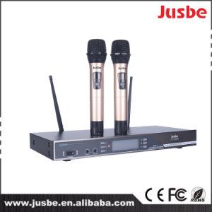 Cardioid UHF 2 Way Wireless Handheld Karaoke Speech Concert System Microphone pictures & photos