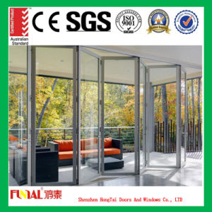 Double Glazing Bifold Aluminium Sliding Doors with As2047