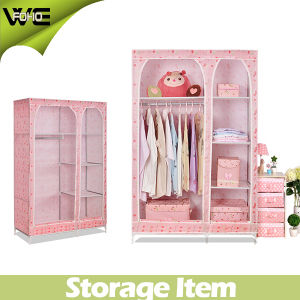 New Living Room Furniture Folding Kids Fabric Wardrobe pictures & photos
