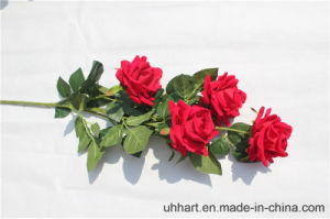 Hight Quality Red Silk Flowers Artificial Rose for Marriage Decoration pictures & photos