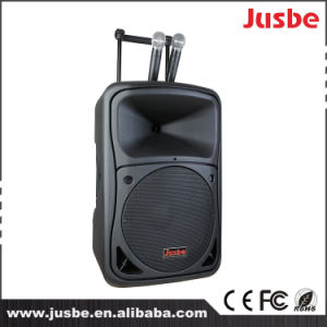 Jusbe 10 Inch 250W Professional Audio Outdoor portable USB MP3 bluetooth FM Trolley Active Speaker pictures & photos