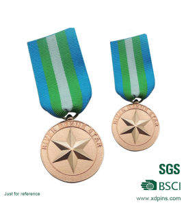 Die Struck Copper Plated Star Medals/Medallion pictures & photos