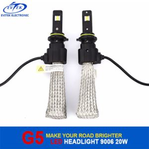 Fanless 20W 2600lm LED Auto Lamp G5 Car LED Headlight Bulbs 6500k pictures & photos