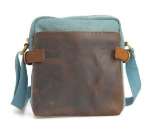 Fashion Canvas Cowhide Leather iPad Tablet Bag (RS-6881B) pictures & photos