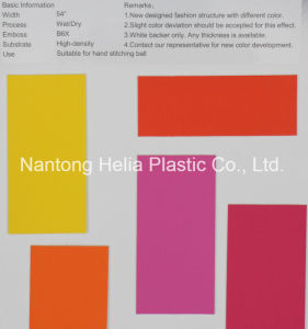 Nantong Factory PU Ball Leather pictures & photos