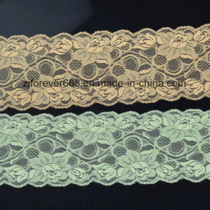Nylon Spandex Elastic Jacquard Lace pictures & photos