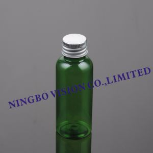 50ml Cosmetic Plastic Oval Bottle with Aluminum Cap pictures & photos