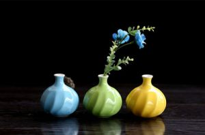 1 Piece Small Size Flower Holder Lovely Jardiniere Home Decoration Ceramic Vase pictures & photos