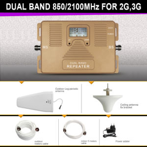 Dual Band 850/2100MHz Mobile Signal Amplifier 2g 3G Cell Phone Signal Repeater pictures & photos