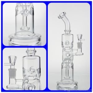 Recycler Oil Rigs Glass Water Pipe and Oil Rigs Glass Water Pipe with Round Cycler Good Recycler and Percolator pictures & photos