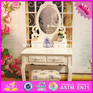 2017 Wholesale Wooden Makeup Vanity Set, White Solid Wooden Makeup Vanity Set, Best Design Wooden Makeup Vanity Set W08h061 pictures & photos