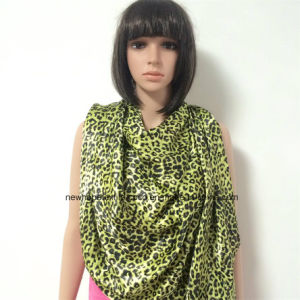 100% Polyester, Satin Material Multifunctional Scarf with Leopard Printing pictures & photos