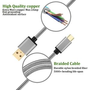 Manufacturer Supply Data Cable Nylon Braided USB Cable for Type-C pictures & photos