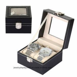 High Quality PU Leather Watch Box with The Pellow pictures & photos