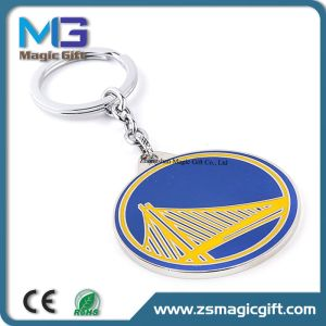 Customized Synthetic Enamel Printing Badge Keychain pictures & photos
