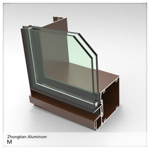 Customized Aluminum Extrution Profile for Windows Doors and Curtain pictures & photos