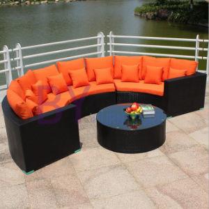 Garden Leisure Half Round Sofa Leisure PE Rattan Furniture pictures & photos