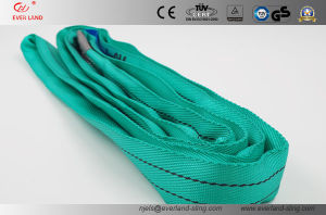 Green Color with Label Ce, GS and TUV Round Sling for Safe Lifting