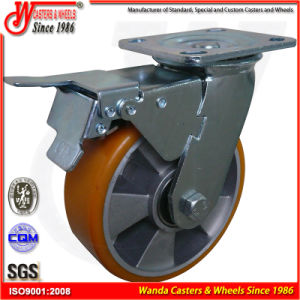 """Swivel with Total Brake Heavy Duty Trolley 4"""" Caster Wheels pictures & photos"""
