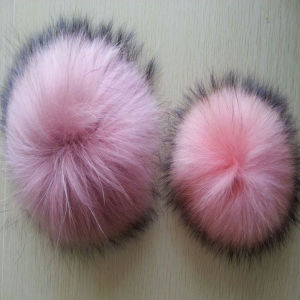 High Quality 11cm Real Raccoon Fur Ball for Hat Cap Beanies pictures & photos