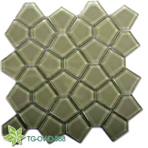Green Irregular Glass/Glass Mosaic (TG-OWD-888) pictures & photos