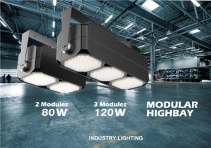 80-120W IP65 LED LED Square Modular Highbay Light, 130-140lm/W, UL Dlc Approved pictures & photos