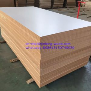 SGS 4*8 Furniture Grade Wood Grain Color/Solid Color Melamine MDF/HDF pictures & photos